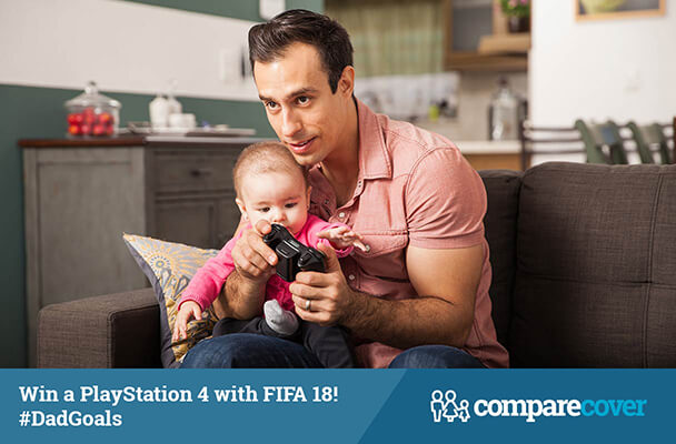 Win a PlayStation 4 with FIFA 18! #DadGoals